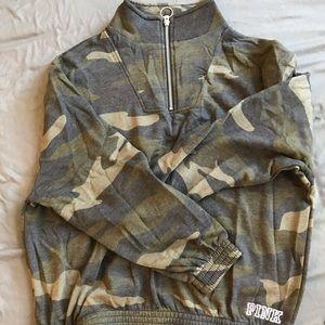 VS PINK camp zip up sweatshirt